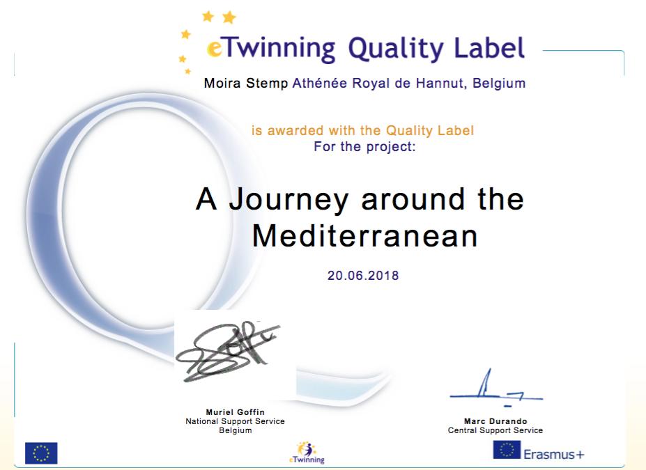 Projet eTwinning 'A Journey around the Mediterranean'